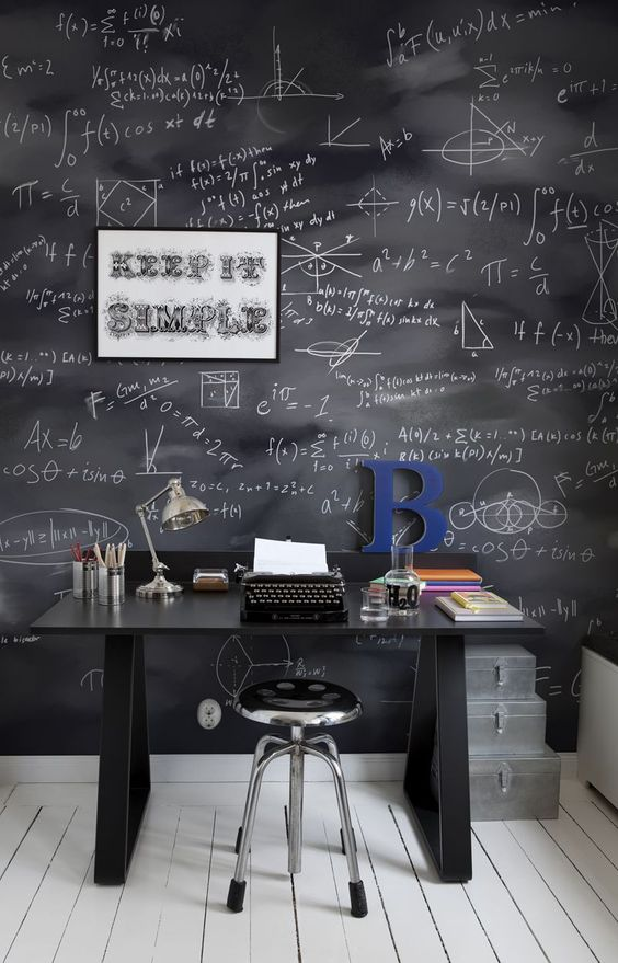 15-industrial-study-space-with-special-wallpapers-blackboard-with-math-equations