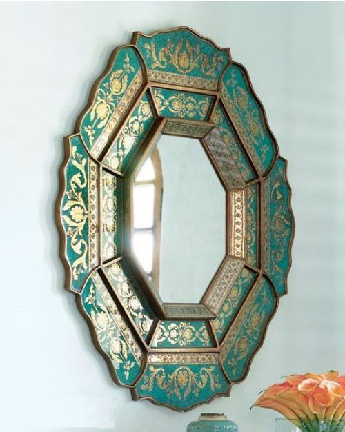 21-green-and-gold-carved-mirror-frame
