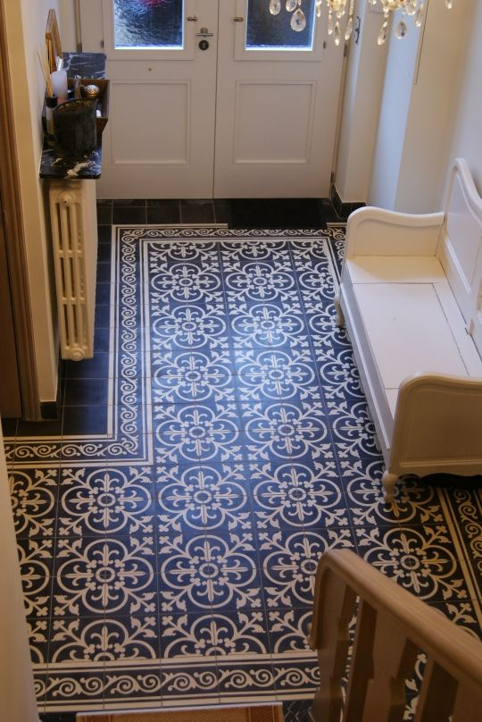 23-Portuguese-tiles-create-an-area-rug-look-at-the-entryway
