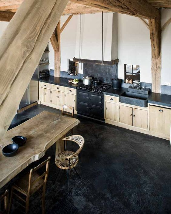 27-polished-black-concrete-floors-are-very-durable-and-fit-kitchens-perfectly