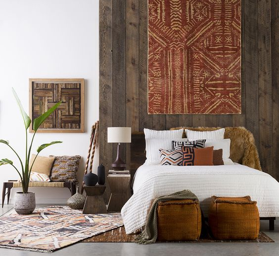 28-Kuba-textile-to-make-a-statement-on-a-bedroom-wall
