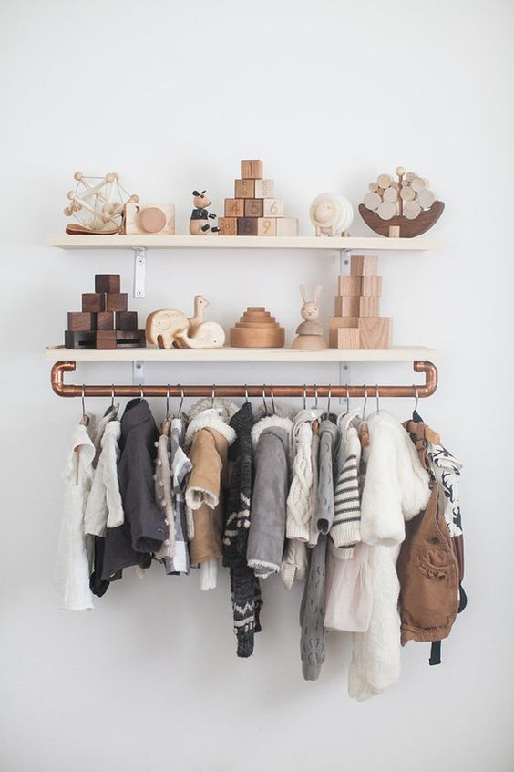 31-industrial-makeshift-closet-for-a-boy