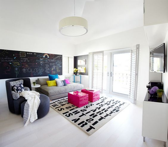 33-modern-teen-hangout-lounge-with-a-chalkboard-wall
