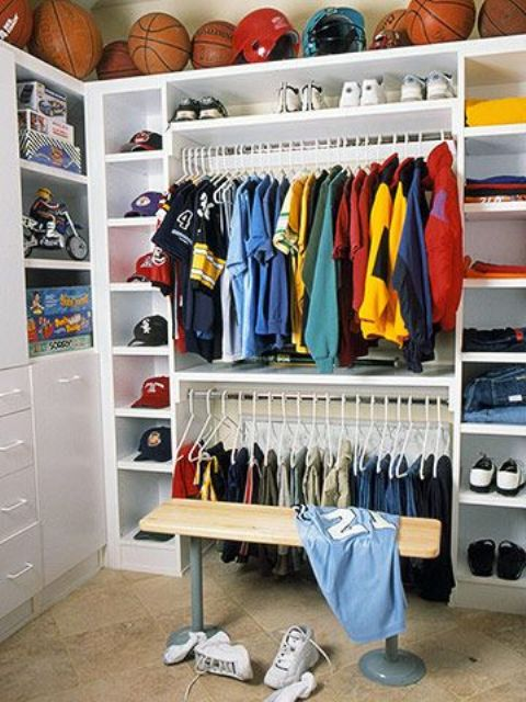 34-boys-closet-with-open-shelving-for-balls-above