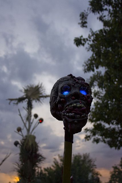 08-tiki-torch-shaped-as-a-scary-zombie-head