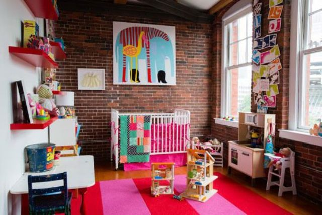 12-red-brick-walls-look-bright-and-blend-perfecctly-with-this-colorful-nursery-design