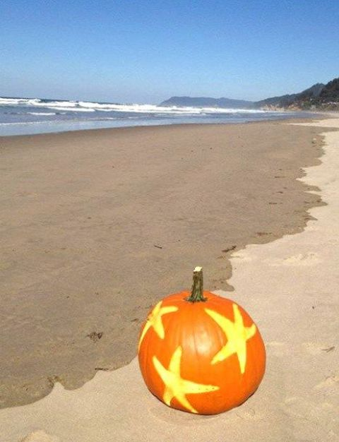 13-star-fish-carvings-on-a-pumpkin-to-highlight-your-beachside-location