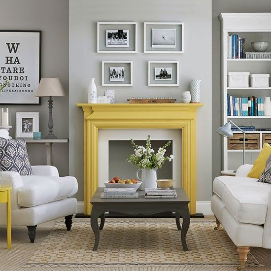 15-to-make-a-simple-light-grey-living-room-pop-just-paint-a-mantel-in-bold-yellow