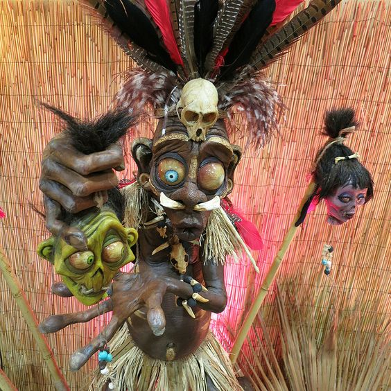 17-witch-doctor-with-shrunken-heads-for-spooky-tropical-decor