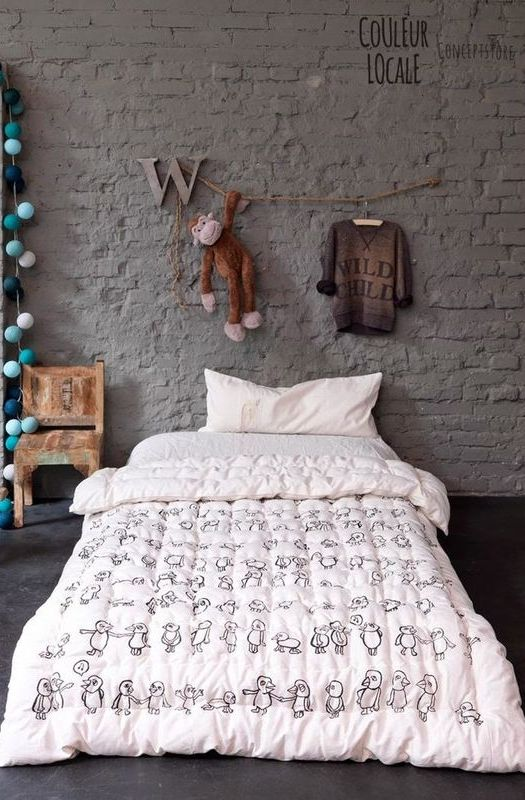 18-rough-painted-brick-brings-an-industrial-touch-to-this-boys-room