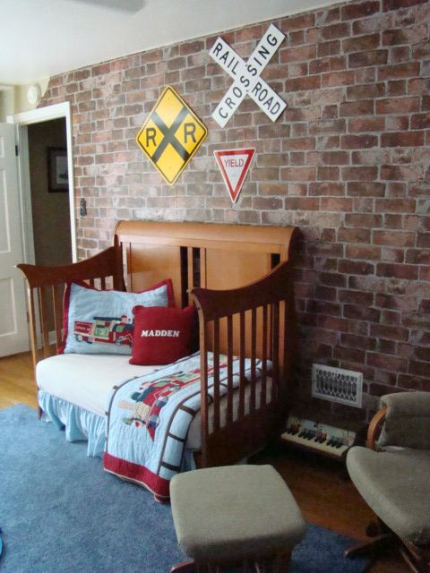 19-train-inspired-boys-room-looks-great-with-an-exposed-brick-wall