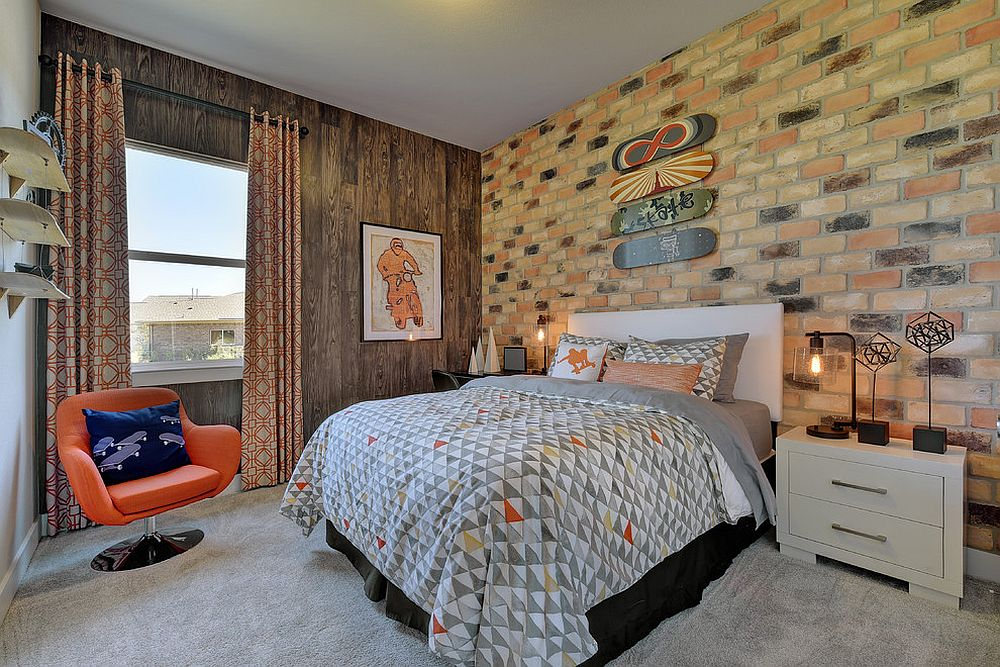 27-eye-catchy-headboard-brick-wall-makes-this-mid-century-modern-room-cooler