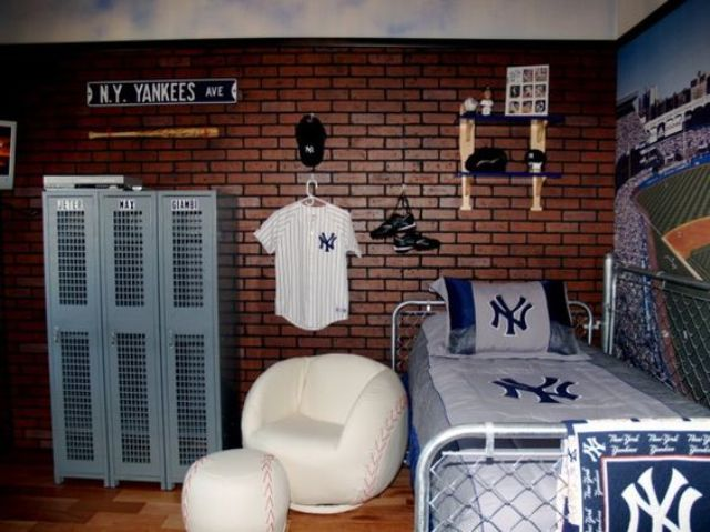 28-baseball-themed-room-with-a-faux-brick-wall
