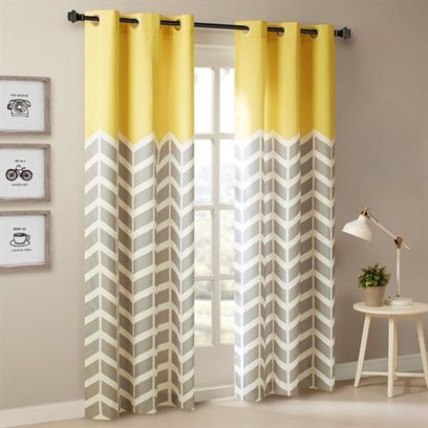 29-yellow-and-grey-chevron-printed-curtains-create-a-mood