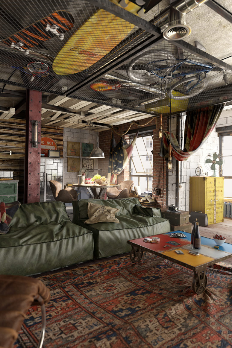01-Industrial-loft-with-a-masculine-character-that-reflects-all-the-preferences-of-the-owner-775x1163