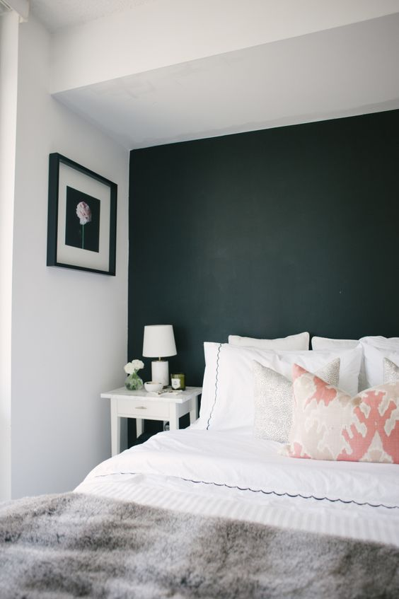 03-black-headboard-accent-wall-makes-this-niche-cozier-and-more-personal