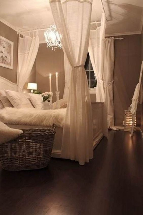 03-shabby-chic-bedroom-with-a-crystal-chandelier-and-candles-for-a-soft-glowing-look