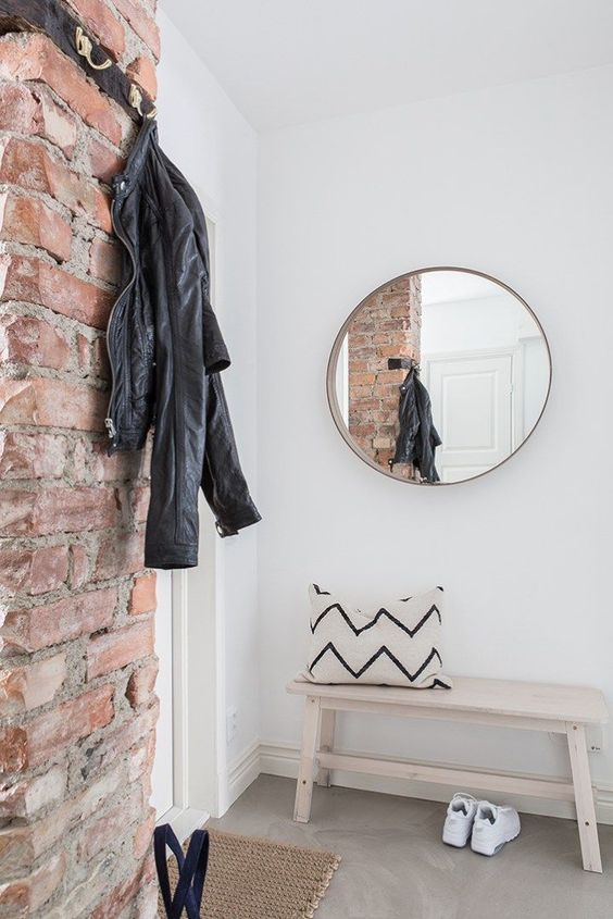 08-be-on-trend-with-a-brick-wall-that-will-give-a-textural-look-and-a-bit-of-style-to-your-entryway