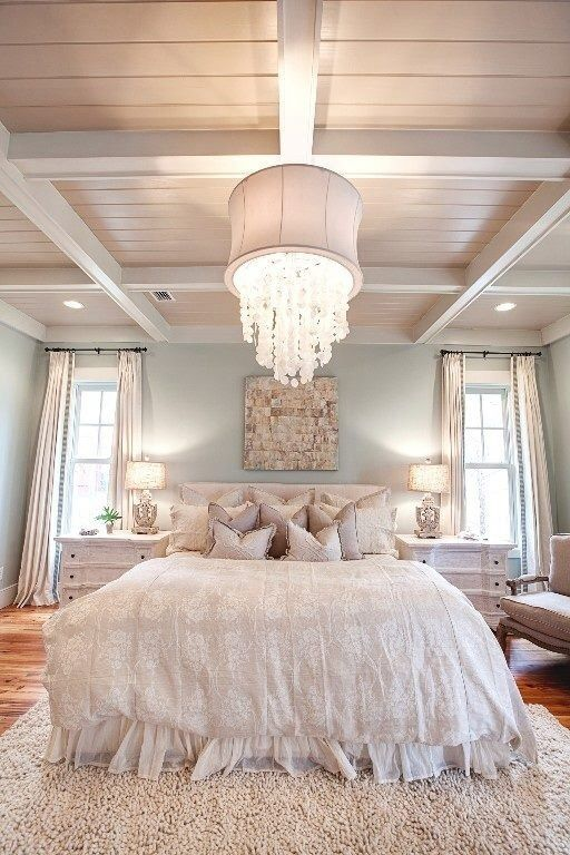08-lots-of-pillows-and-soft-bedding-with-ruffles-look-cute-and-inviting