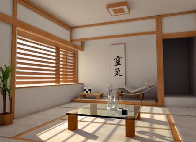 09-minimalist-Japanese-interior-and-a-window-covered-with-bamboo-shades