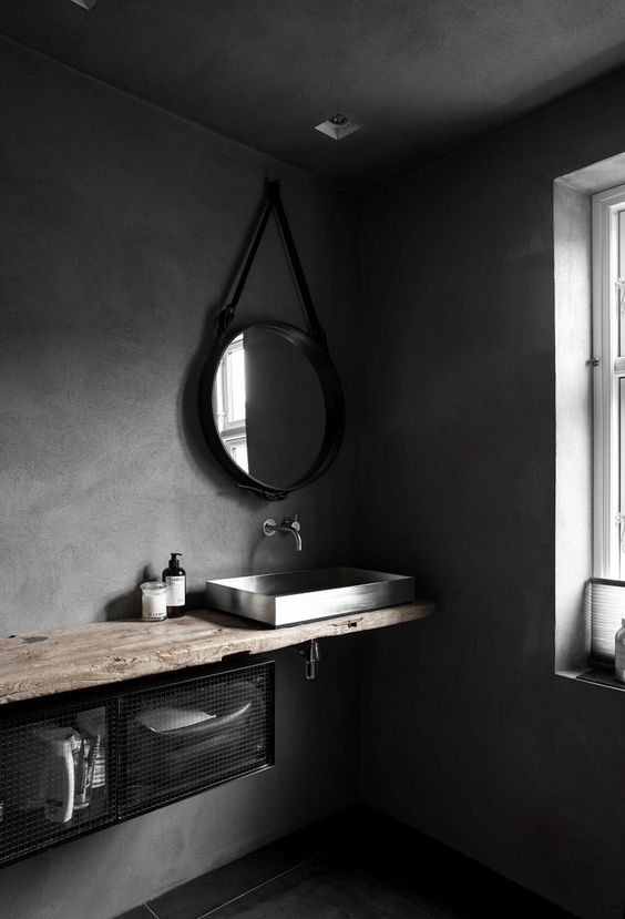09-wabi-sabi-space-with-concrete-walls-and-a-rough-wood-counter