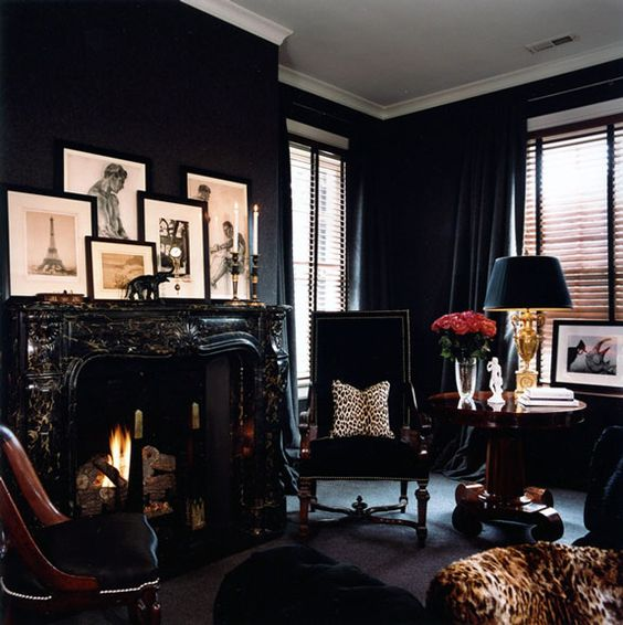 10-monochromatic-black-living-room-with-leopard-print-touches