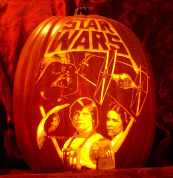 11-Star-Wars-Halloween-pumpkin-carving-with-Leia-Luke-and-Darth-Vader