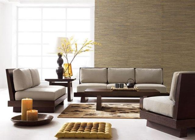 11-minimalist-Zen-furniture-of-dark-wood-and-grey-cushions