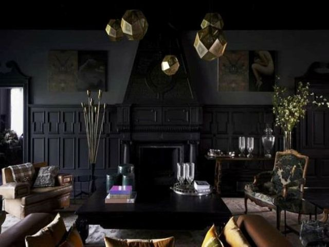 12-black-living-room-with-gold-pendant-lamps-and-vintage-furniture