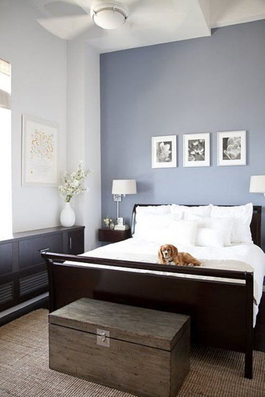 13-lavender-accent-wall-gives-this-neutral-bedroom-a-girlish-feel