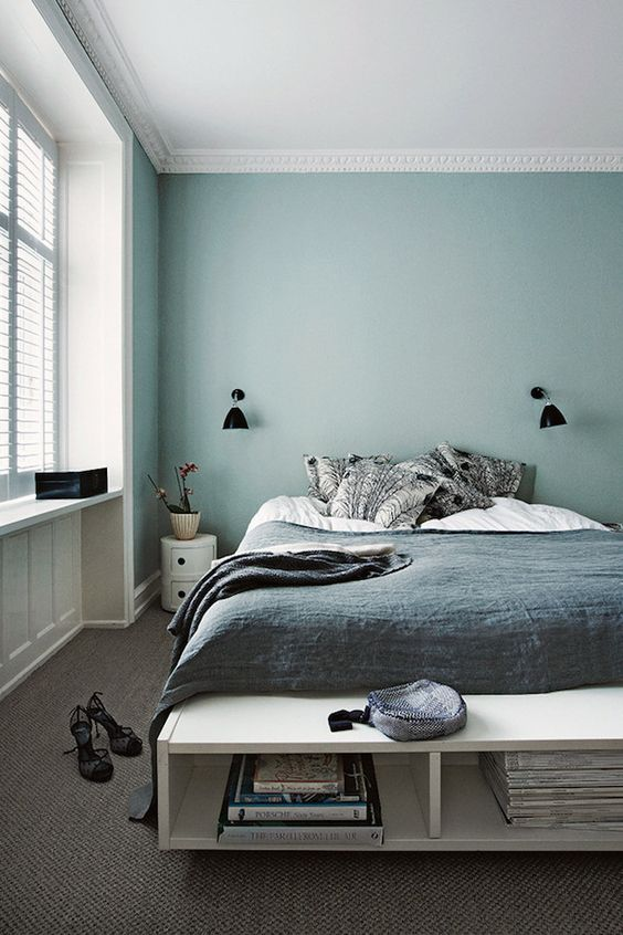 14-Scandinavian-bedroom-spruced-up-with-a-mint-headboard-wall