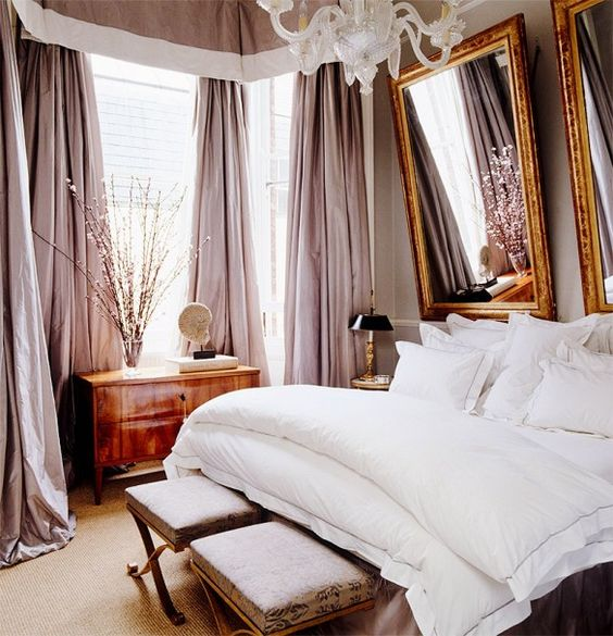14-luxurious-bedroom-with-pink-curtains-and-white-bedding