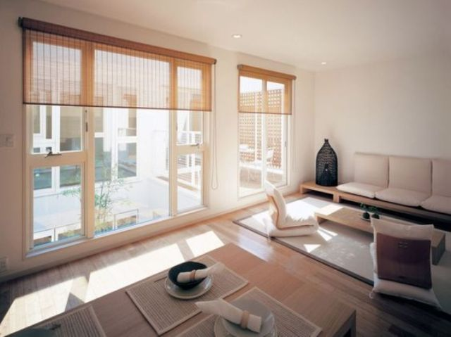 18-modern-Japanese-living-and-dining-space-with-large-windows-and-mabmboo-shades