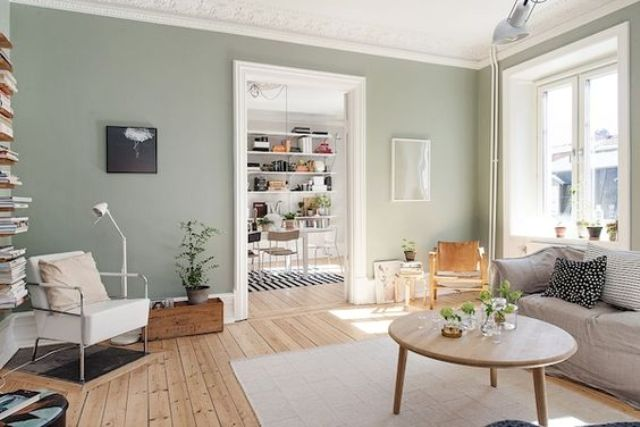 18-spruce-up-a-Scandinavian-home-with-green-walls
