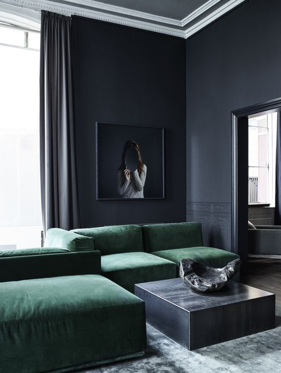 20-moody-modern-living-room-in-charcoal-grey-with-green-upholstered-furniture