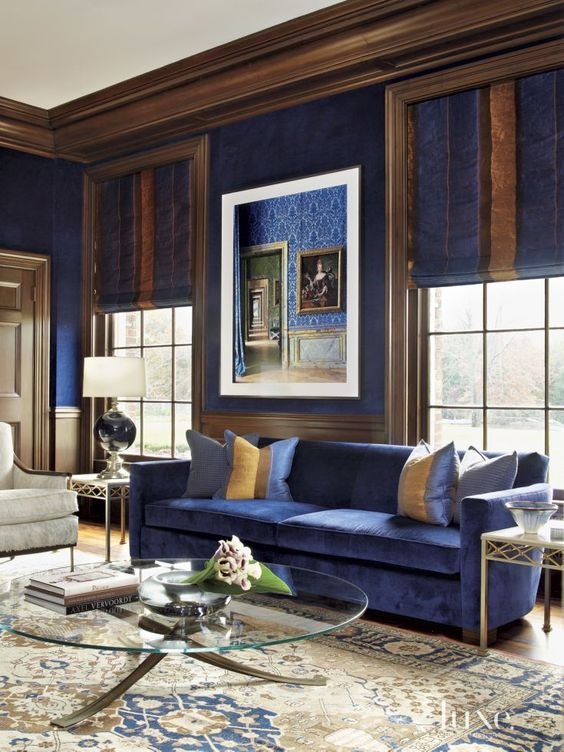 23-royal-blue-living-room-with-rich-brown-and-creamy-accents