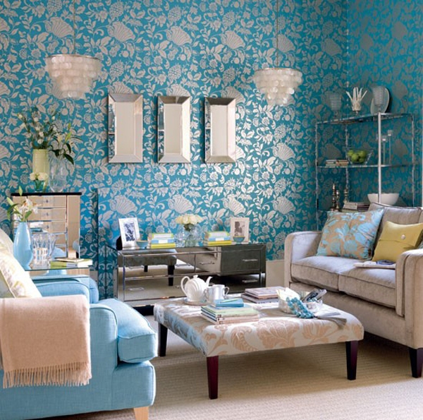 25-damask-print-wallpaper-beige-upholstery-and-bright-blue-accessories