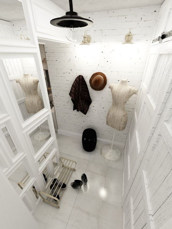 25-girlish-entryway-with-whitewashed-bricks-for-a-shabby-chic-touch