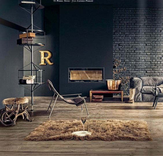 26-industrial-touches-and-textures-of-brick-metal-and-fur-make-this-living-room-unique