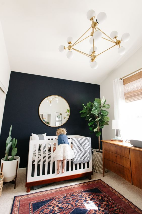 27-black-accent-wall-in-a-kids-room-for-a-mid-century-modern-interior