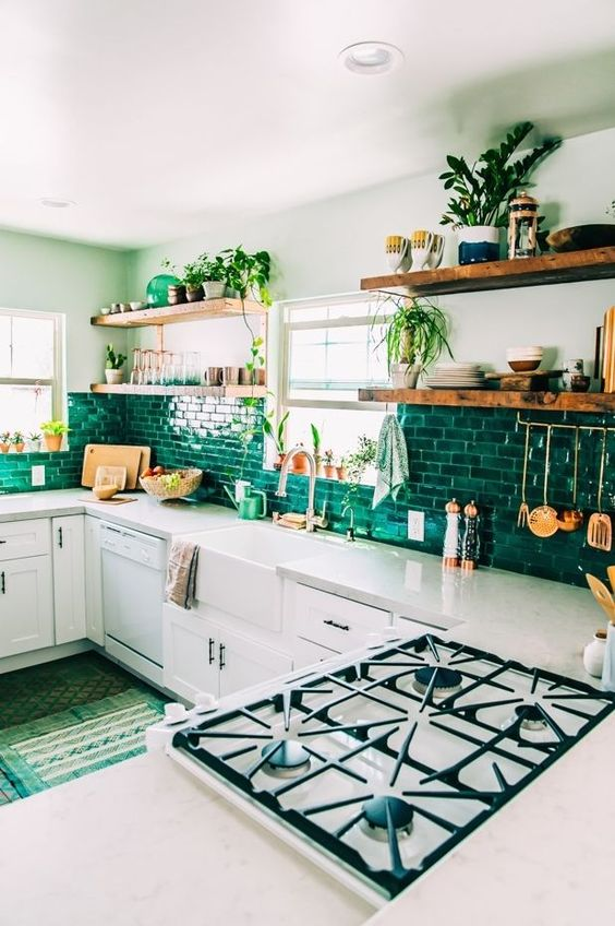 27-emerald-subway-tile-backsplash-makes-up-the-whole-kitchen-decor