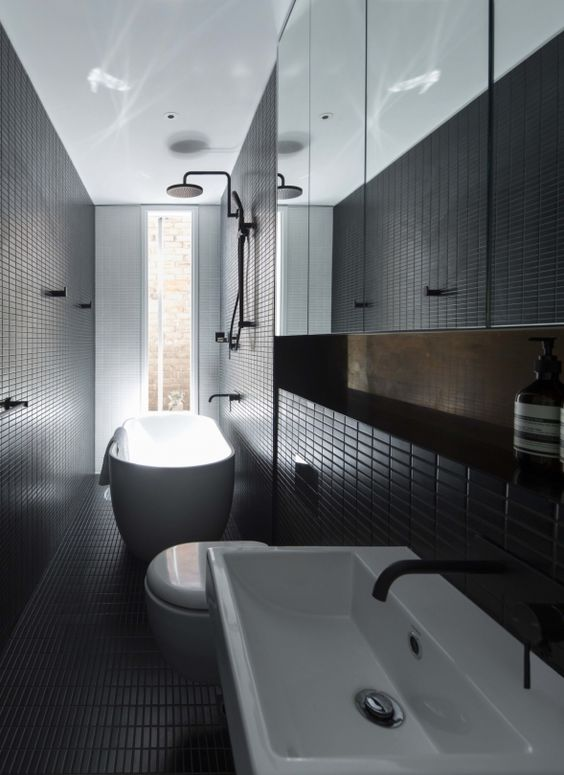 27-modern-black-bathroom-clad-with-small-tiles-that-add-the-space-eye-catchy