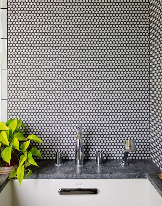 28-white-penny-tiles-with-black-grout-will-add-texture-to-your-decor
