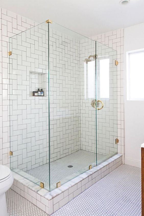 29-white-subway-tiles-in-the-shower-clad-in-straight-herringbone-pattern