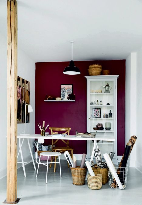 30-purple-accent-wall-in-a-white-craft-room-makes-a-bold-statement