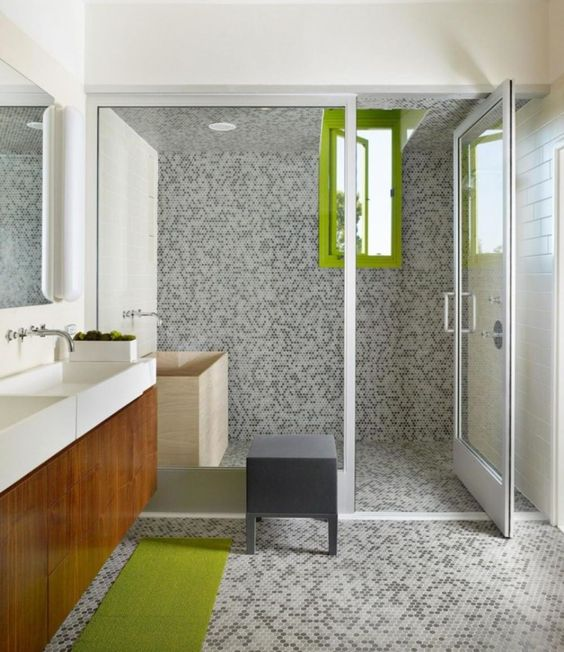 37-grey-tiles-on-the-walls-floor-and-in-the-shower-contrast-with-lime-green-accents