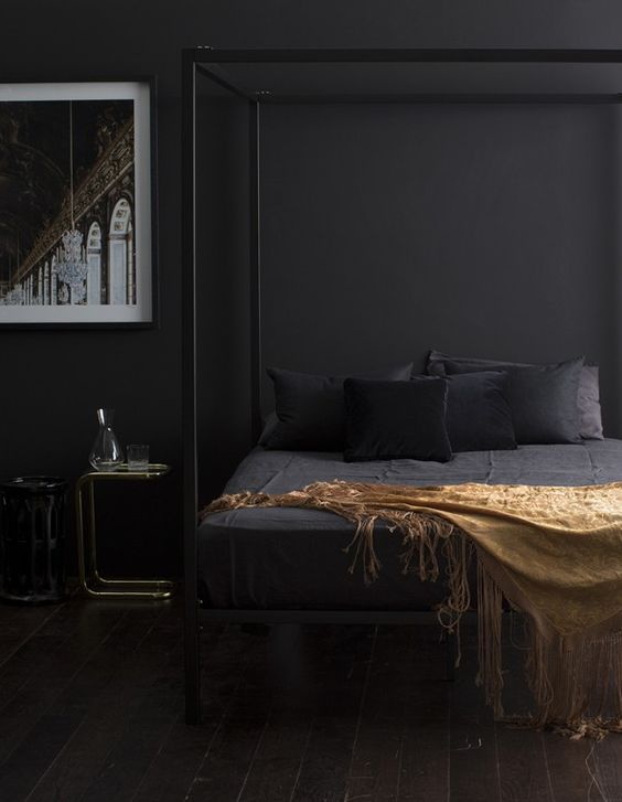 matte-black-bedroom-with-metallic-details