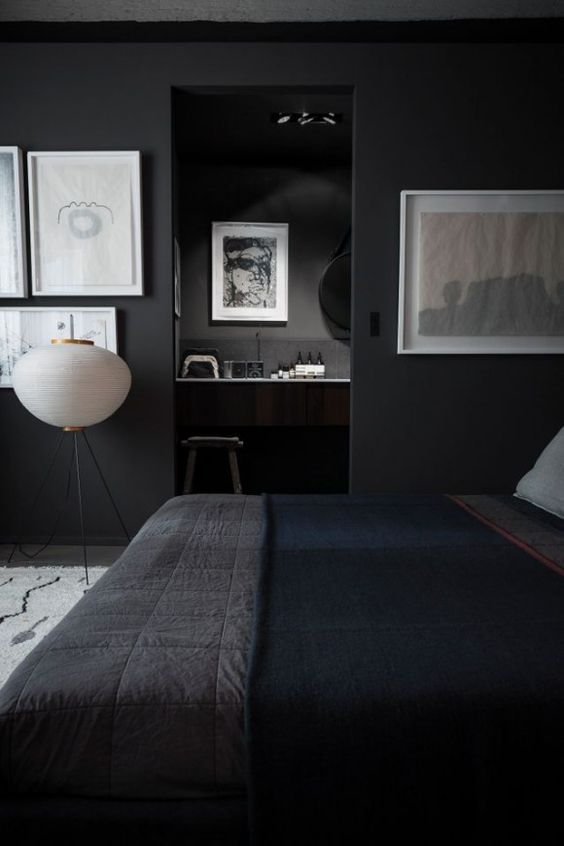 to-compensate-the-dark-bedroom-decor-white-artworks-were-used