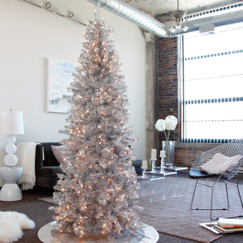 02-a-tall-shiny-silver-tree-will-perfecly-fit-a-modern-space-just-add-some-lights-for-a-sparkling-look-775x775