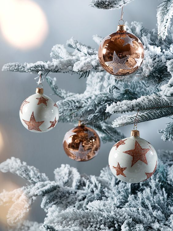 02-amazing-ivory-and-copper-star-ornaments-for-decorating-your-tree